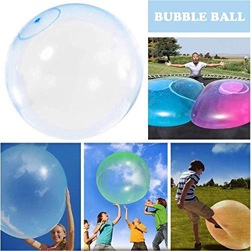 Bola inflable de goma inflable interactiva llena de agua duradera, súper grande e increíble Bubble Ball,Adultos Summer Party y Water Play Toy 2020 más reciente (Blue, 80cm(30in))