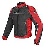 Dainese 1654575_678_46 Hydra Flux D-Dry Jacket Giacca Moto Nero/Rosso/Bianco, 46 EU