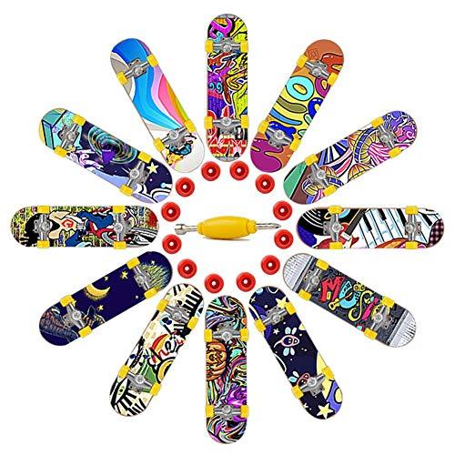 decaden Mini Finger Skateboards und Bikes Fingerspielzeug für Kinder als Geschenk mit Werkzeugen und Ersatzrädern
