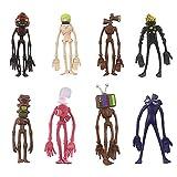 Siren ヘッドケーキトッパー SCP ファンデーション センターピース おもちゃ アクションフィギュア シャイガイ 子供 誕生日 ケーキ デコレーション SCP 6789 SCP 096 8個セット