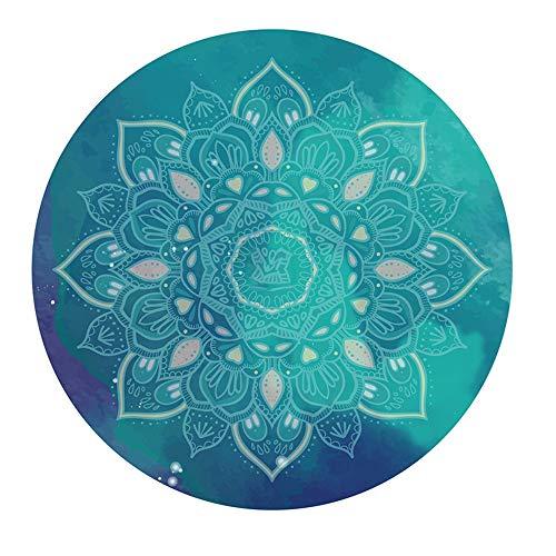 PQXOER Yogakussen, meditatiekussen, natuurrubber, cirkel, yogamat, fitness, yoga, tapijt, meditatie, mat voor thuis, hotel, yoga, zitkussen