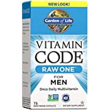 Garden of Life Multivitamin for Men, Vitamin Code Raw One for Men - 75 Capsules, Once Daily Mens Vitamins plus Fruit, Veggies & Probiotics for Mens Health, Vegetarian One a Day Mens Multivitamins