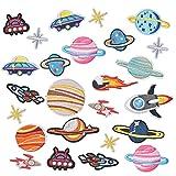 AvoDovA 25 piezasParches Bordados Set, Sistema Solar EspacioPlanetasParches, Parche de Ropa Coser o Planchar, Decorativos ParchesTermoadhesivos para Ropa Camiseta Jeans Sombrero Pantalon Bolsas