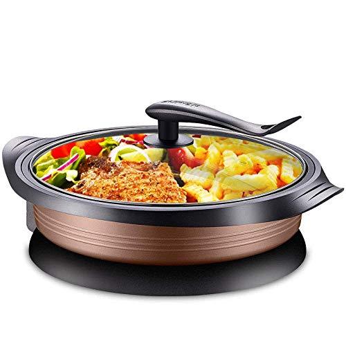 Fondue Hot Pan Elektrische grill multifunctionele grillpan elektrische pan huishoudpan hot pan rookvrij anti-aanbak grill elektrische grill pan