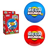 Wicked Mega Bounce XL - The World's Bounciest Inflatable Ball! Extra Large Bounce Ball for All Terrain Bounceability! Super Grip Graphics Outdoor Exercise Ball to Catch Easily. Blue or Red