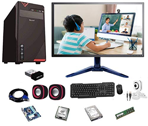 Rolltop® Assembled Desktop Computer,Intel Core 2 Duo 3.0 GHZ Processor,G 41 Motherboard, 15″ LED Monitor,4 GB RAM,Windows 7 & Office Trial Version with Web Camera Mic Speaker 500 GB