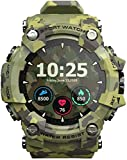 Smart <span class='highlight'>watch</span>, outdoor waterproof digital <span class='highlight'>watch</span> with multiple sports modes, <span class='highlight'>pedometer</span>, call SMS reminder, activity tracker for men and women-Green