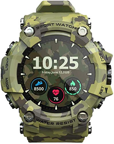 Smart watch, outdoor waterproof digital watch with multiple sports modes, pedometer, call SMS reminder, activity tracker for men and women-Green
