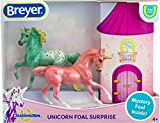 Breyer Horses Stablemates Mystery Unicorn Foal Surprise | Open and Find The Surprise Unicorn Foal | 3 Horse Set | Horse Toy | Horse Figurines | 3.75' x 2.5' | 1:32 Scale | Model #6052
