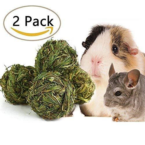 SZBOYU Natural Woven Timothy Grass Ball Small Pets...