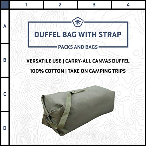 StanSport Unisex's Duffel Bag with Strap-O.D. -50 X 14.5 in, Olive Green, 50