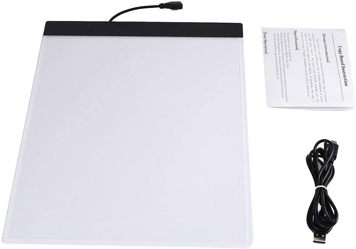 K02 A4 Paper Size Copying Board Ultra Thin LED Luminous Painting Sketch Pad USB Portable Art Tracking Writing Light Panel