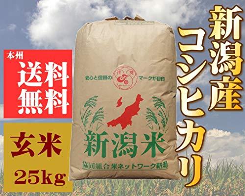 新潟県産 コシヒカリ 令和2年産 玄米25kg 【玄米色彩選済み】