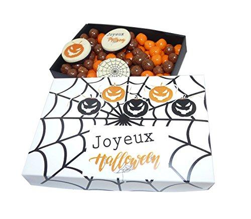 Ballotin de chocolat Halloween - COFFRET CADEAU LISEA MM - CHOCOLAT ARTISANAL 165g - COFFRET CADEAU CHOCOLAT