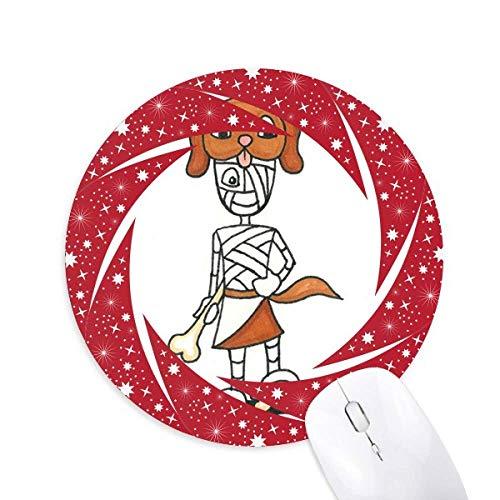 "Ã""gypten Mami Horus Hundehut Rad Maus Pad Round Red Rubber"