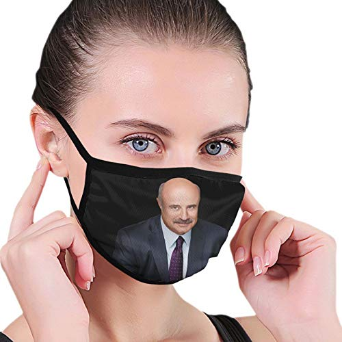 Dr Phil Outdoor Breathable Washable Mask Unisex with Elastic Ear Loop Mask Black