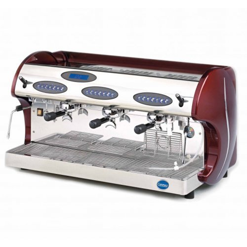 Carimali Espressomaschine Kicco 3-gruppig, Siebträger inkl. CF Espresso