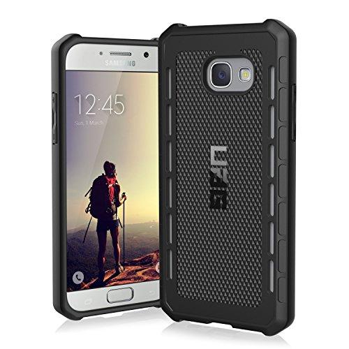 Urban Armor Gear Outback Schutzhülle nach US-Militärstandard für Samsung Galaxy A5 (2017) - schwarz [Verstärkte Ecken | Sturzfest | Flexibel | Vergrößerte Tasten] - GLXA5-17-O-BK