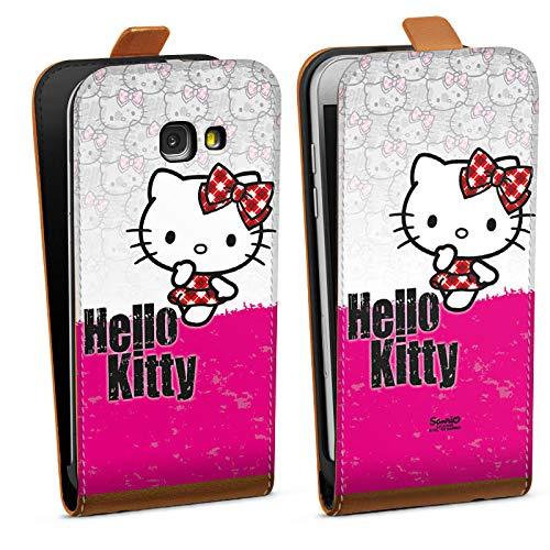 DeinDesign Tasche kompatibel mit Samsung Galaxy A3 2017 Flip Hülle Hülle Hello Kitty Merchandise Fanartikel Pink Punk