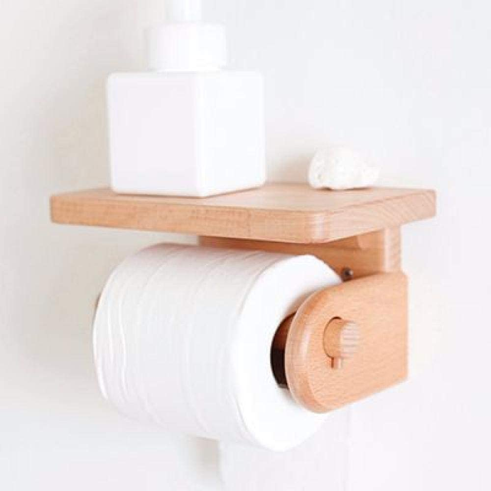 simple y fresco soporte para papel higi/énico Portarrollos de papel higi/énico de madera maciza n/órdica rural