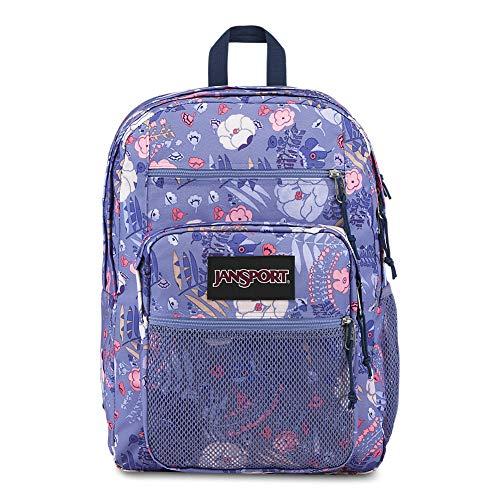 Jansport Big Campus Backpack - Lightweight 15' Laptop Bag | Blue Liana Vines