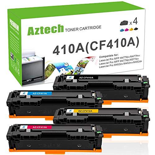 Aztech Kompatibel Toner Cartridge Replacement für HP 410A CF410A CF411A CF412A CF413A CF410X für M477fdw Toner HP Color Laserjet Pro MFP M477fdw M477fdn M477fnw M452dn M452nw m452dw M377dw