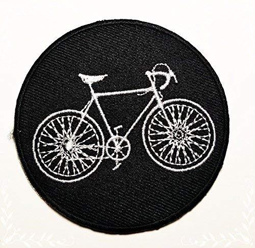 HHO negro bicicleta BMX Montaña Bicicleta de carretera parche bordado parches de bricolaje, bolsas de con niños apliques coser hierro en parche de Craft para chaquetas Jeans ropa
