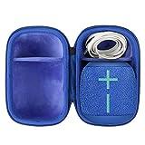 co2CREA Duro Viajar Caja Estuche Funda para Ultimate Ears Wonderboom 1/2 Altavoz Portátil Inalámbrico Bluetooth(Estuche Solo) (Negro/Azul)