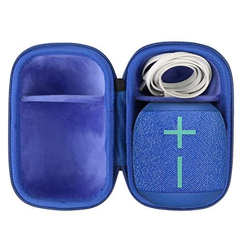 co2CREA Duro Viaje Estuche Bolso Funda para Ultimate Ears WONDERBOOM 2 Altavoz Bluetooth Impermeable(Speaker Case) (Negro/Azul)