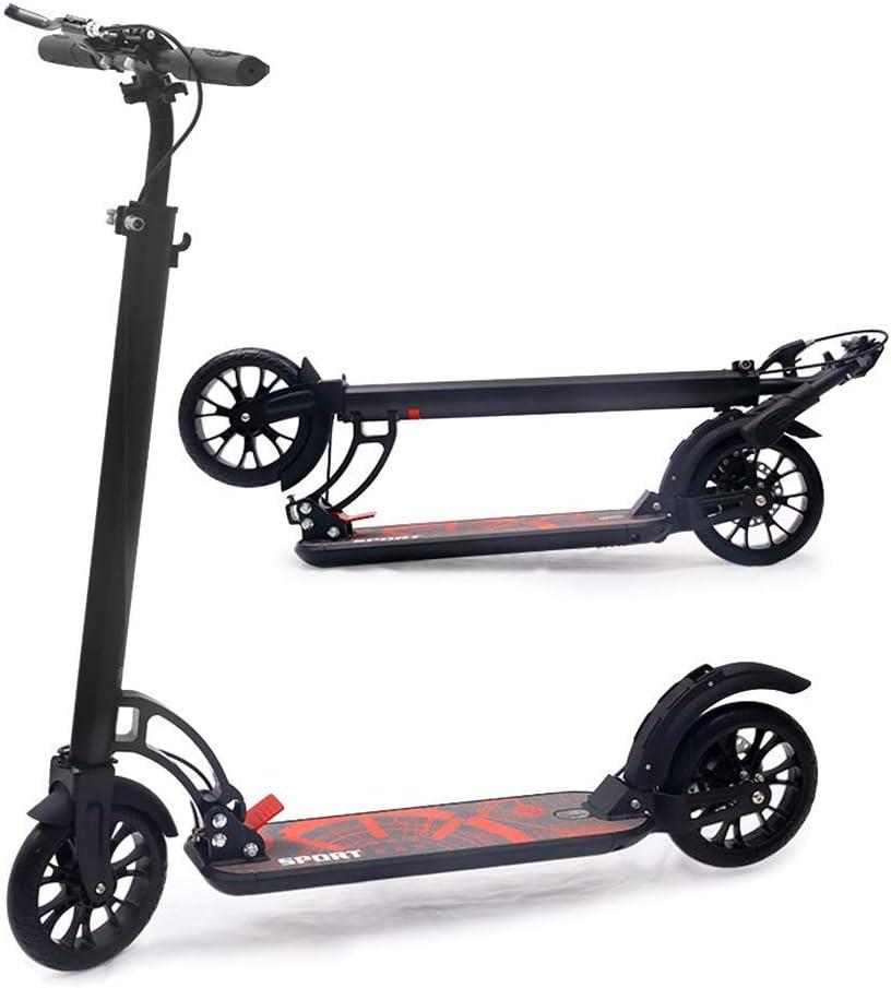 Scooter Plegable Kick Scooter Plegable con Freno de Mano; Regalos de cumpleaños para Adultos/Adolescentes/niños, manillares Ajustables de 91 a 105 cm, hasta 150 kg, no eléctricos