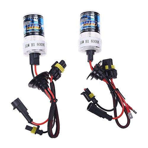 SODIAL (R) 2 x H1 Xenon High Power Lampe de lumière Ampoule voiture 55 W 6000 K DC 12 V