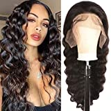 JIETAI T-Part Loose Deep Wave Lace Front Wigs Human Hair for Black Women Wigs 150% Density Lace Front Human Hair Wigs Pre Plucked Bleached Knots with Baby Hair (26inch)