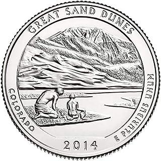 2014 P,D,S BU Great Sand Dunes Colorado National Park NP Quarter Choice Uncirculated US Mint 3 Coin Set