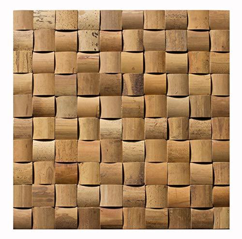 Bambus - Mosaikfliesen - BM-010 - Bambus-Design Holz-Verblender Wandpaneele Wandverkleidung Bamboo-Mosaic Bamboo-Design - Fliesen Lager Verkauf Stein-mosaik Herne NRW