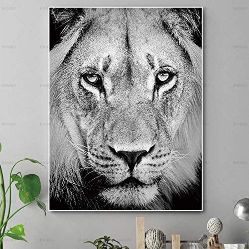 baodanla Kein Rahmen NGS Hunde buddhistisch, Leinwand Lion HD Oil ng, Drucken Wohnzimmer, Korridor Restaurant Wallpaper40x60cm