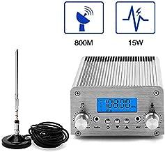 Radio FM Transmitter, Elikliv 5W / 15W PLL 87~108MHz LCD Wireless Radio Stereo Broadcast with Telescopic Antenna, FM Transmitter for Church,Car Theater,Radio Station,Big Mall