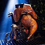 Portable Chicken Stand Beer American Motorcycle BBQ Stainless Steel Rack with Glasses Whole Chicken Roaster Rack Grill Oven Smoker Roasting Cooking Utensil BBQ, Grill, oven Beer Chicken Stand (A)