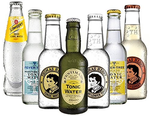 Tonic Set Schweppes, Fever Tree Indian + Mediterranean ,Fentimans, Thomas Henry Tonic und Elderflower  Thomas Henry Spicy a 200ml inc. MEHRWEG + EINWEG Pfand