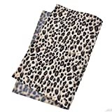 Kesheng A4 PVC Stoff Gewebe Leopard Muster Braun Grau