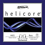 D'Addario Helicore Orchestral Bass Single D String, 1/2 Scale, Medium Tension
