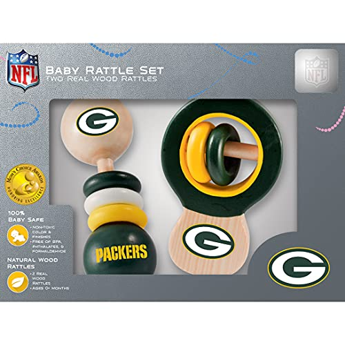 NFL Green Bay Packers Baby Rattle Set - 2 Pack