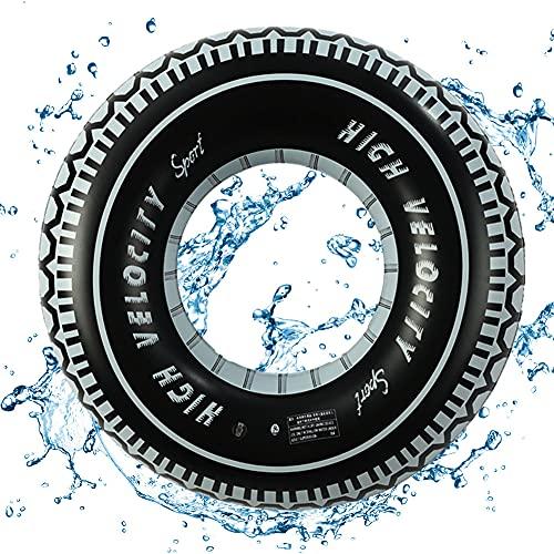 ALHX Schwimmreifen, Schwimmhilfe Autoreifen, Aufblasbarer Schwimmreifen im Reifen Design, Aufblasbar Schwimmreifen für Kinder und Erwachsene Monstertruck-Reifen zum Aufblasen