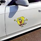 Bob Esponja Auto coche parachoques ventana pared maleta calcomanía calcomanías decoración DIY(Juego de 2)