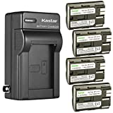 Kastar 4 Pack BP-511 BP-511A Battery and AC Wall Charger Compatible with Canon ZR60 ZR65MC ZR70MC ZR80 ZR85 ZR85MC ZR90 ZR90MC PV130 EOS Rebel DS6041 Cameras, Canon Battery Grip BG-E2N