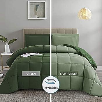 Best green comforter set king Reviews