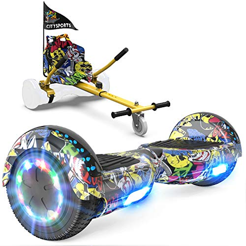 GeekMe Patinete Eléctrico Auto Equilibrio con Hoverkart,Hover Scooter Board,Balance Board + Go-Kart...