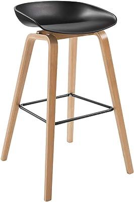Amazon.com: Barstoolsporst Solid Wood Bar Stool, Creative High ...