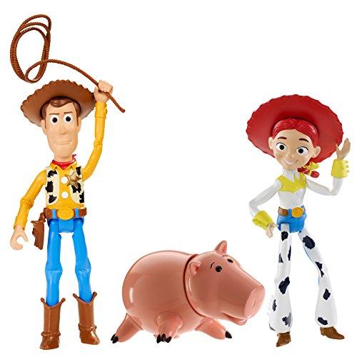 Mattel Disney Pixar Toy Story Figuras DPX23 - Andy's Imagination Figura Juego con Woody, Jessie y Hamm Toy Story Estatuillas 10cm de Alto
