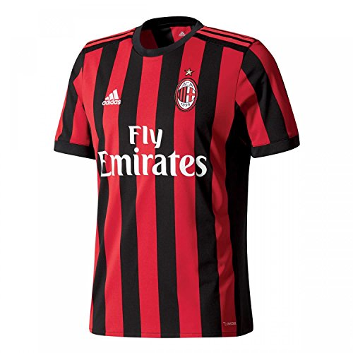 adidas ACM H JSY Camiseta 1ª Equipación AC Milán Réplica 2017-2018, Hombre, Rojo (rojvic/Negro), XL