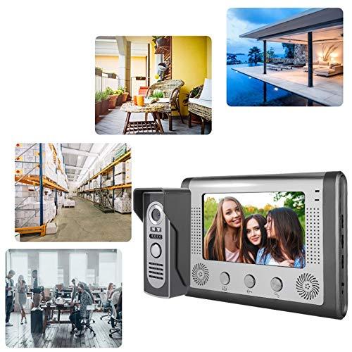 Teléfono de la puerta, timbre a prueba de lluvia con video de la(European standard (110-240V))